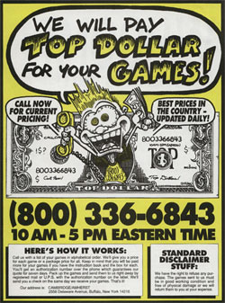 We Will Pay Top Dollar For Your Games!