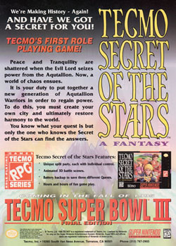 Tecmo Secret of the Stars: A Fantasy (Tecmo)