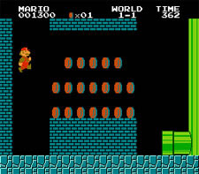 Super Mario Bros. Level 1-1 (Hidden Area)