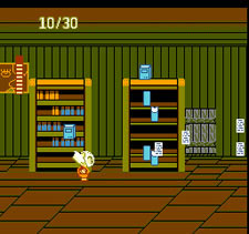 Splatterhouse Wanpaku Graffiti - Sub-Boss - Possessed Bookcase