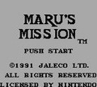 Maru's Mission (Virtual Console)