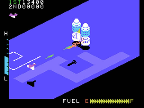 Zaxxon Review for ColecoVision (1982) - Defunct Games