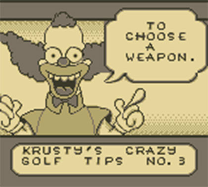 Itchy & Scratchy in Miniature Golf Madness (Game Boy)