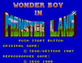 Wonder Boy in Monster Land (Sega)